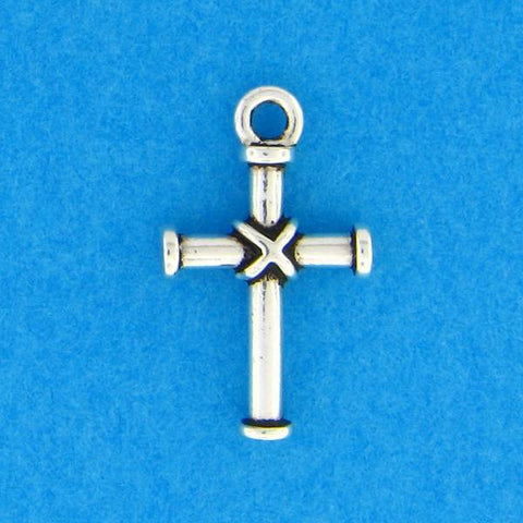 Wrapped Cross Charm