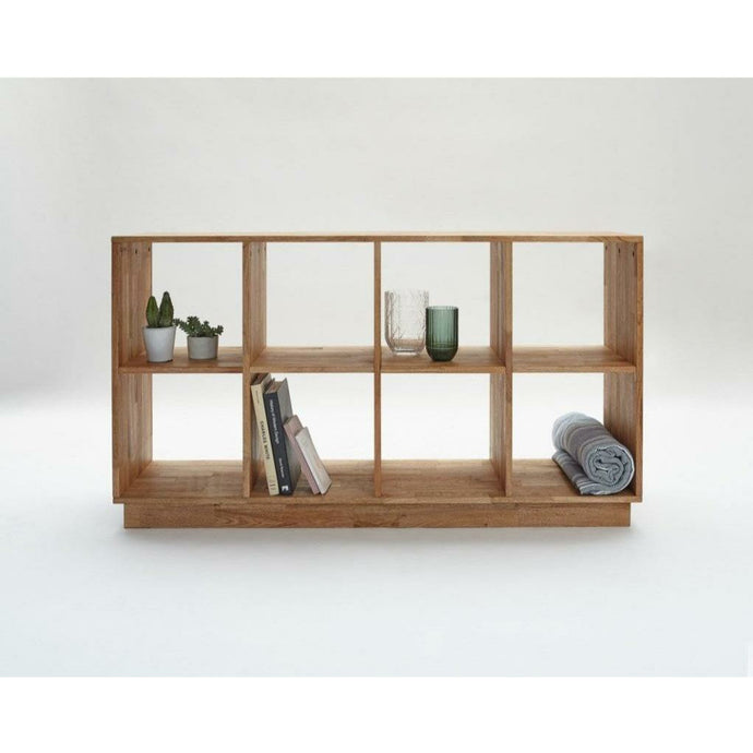 LAX SERIES 4x2 BOOKCASE english walnut LAX.58.32.15.W
