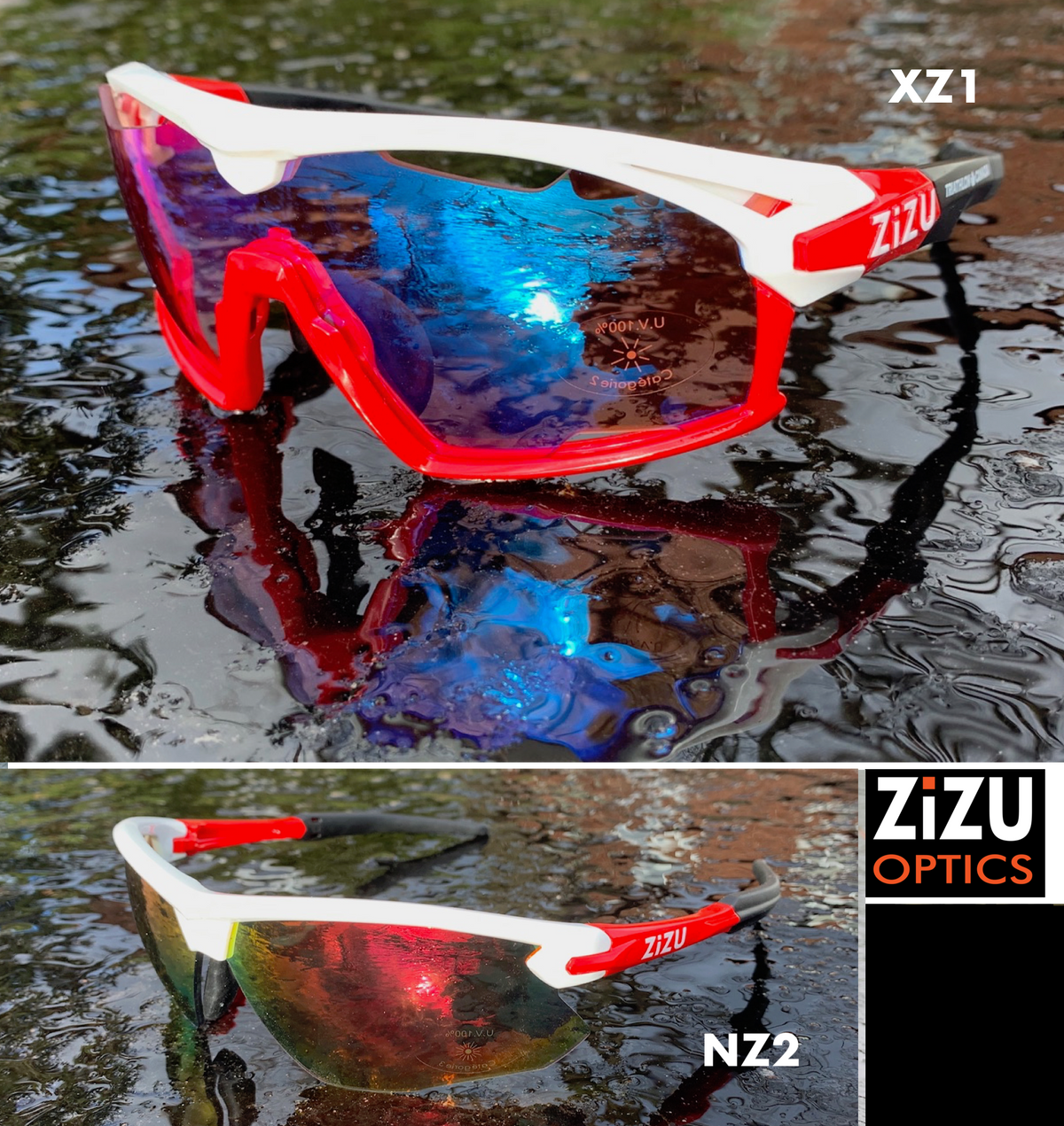 XZ1 - CKC White/Red with Red Revo Lens + Bonus NZ2 White/Red
