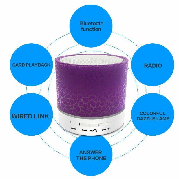 LED Mini Bluetooth Portable Speaker
