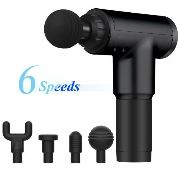 Massage Gun Percussion Deep Tissue Muscle Massager With 4 Heads