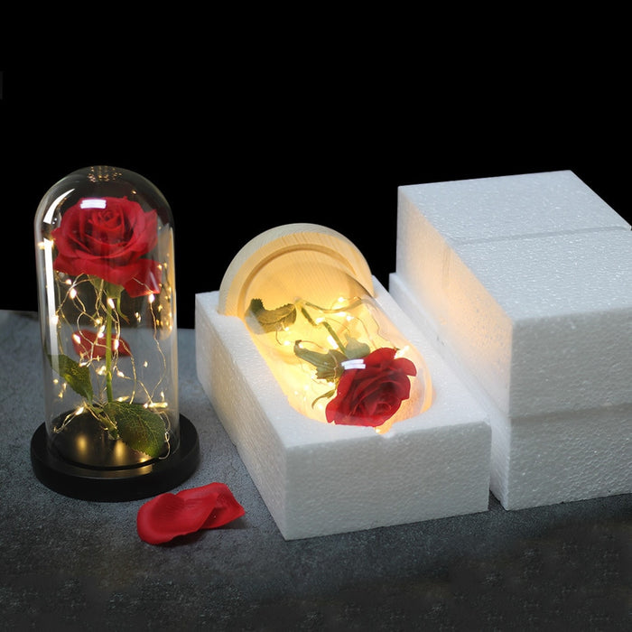 Handcrafted Enchanted Rose Flower Lamp