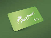 Load image into Gallery viewer, Metallic Green PolyJumps Gift Card for £20.00