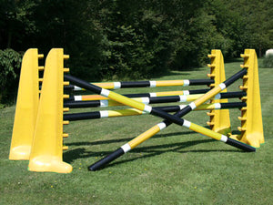 2 pairs of Yellow 8 Cups with 6 Pro Poles coloured: Black, White & Yellow.