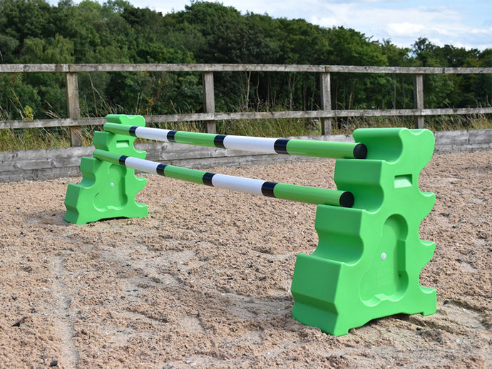 Pair of MultiJumps in Eco Green with 2 9 Band Practice Poles.