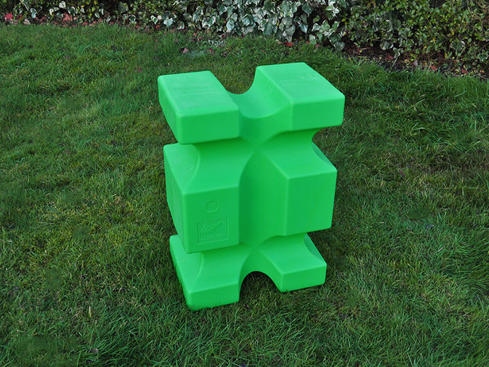 Eco Green PolyJump Block on grass.