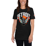 Load image into Gallery viewer, Detroit Retro Black Horse Short-Sleeve T-Shirt