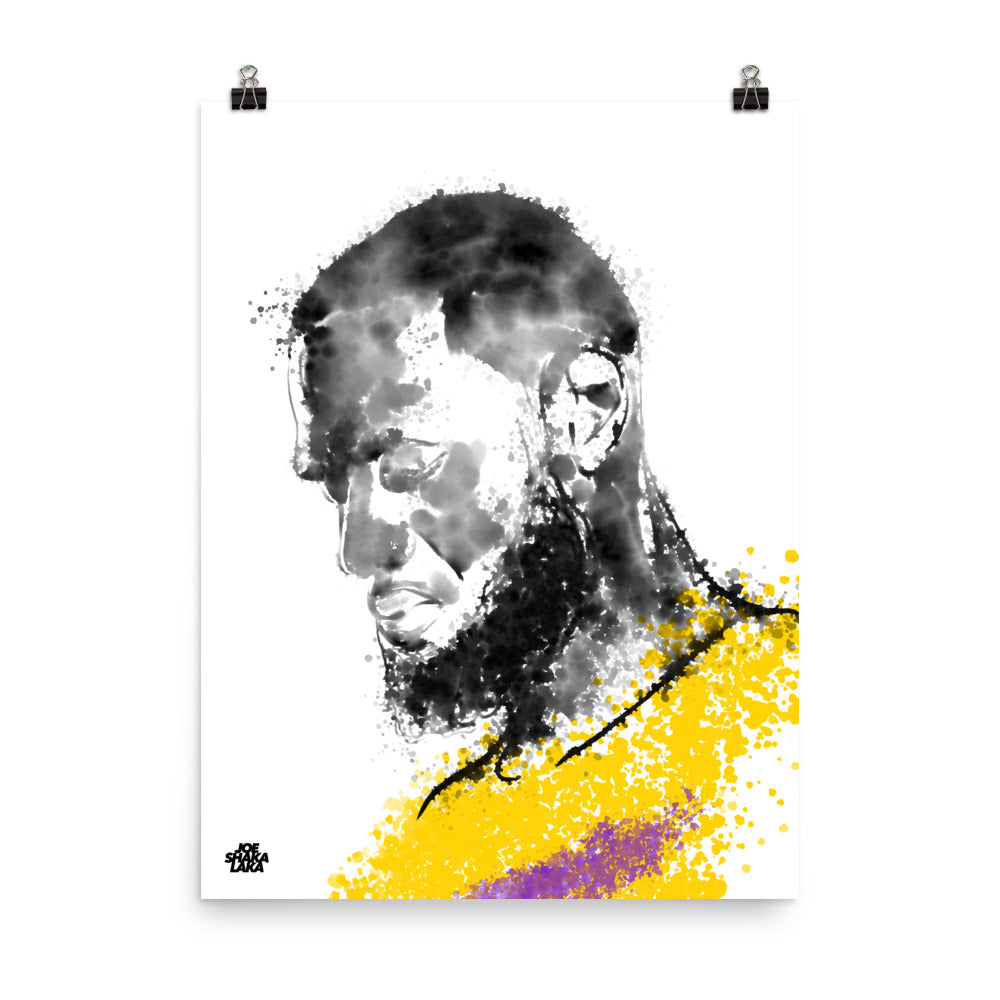King James Fan Art, Original Hand-Drawn Digital Illustration