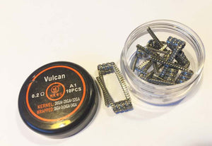 Vulcan 0.2ohm Prebuilt Coil Staple Staggered for RDA RBA RDTA Atomizer - VapeNationpk
