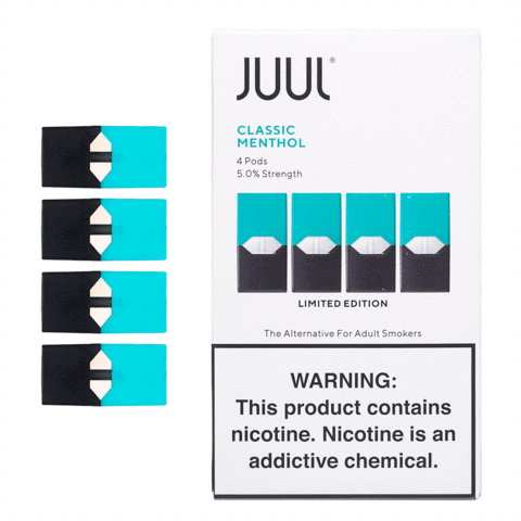 CLASSIC MENTHOL - JUUL PODS (Pack of 4) Limited Edition - VapeNation.pk Vape Pakistan