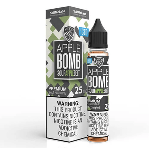VGOD SALTNIC EJUICE - ICED APPLE BOMB - 30ML - VapeNationpk