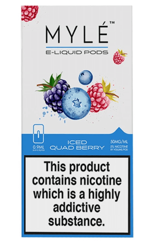 MYLE Iced Quad Berry Pods - Pack of 4 - VapeNationpk