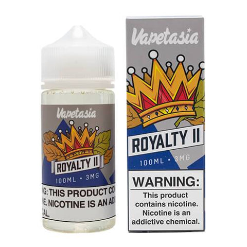 VAPETASIA EJUICE - ROYALTY II - 100ML - VapeNationpk