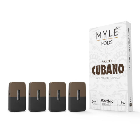 MYLE Pods VGOD Cubano - Pack of 4 - VapeNationpk