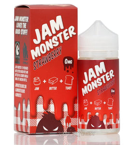 Strawberry by Jam Monster Liquids - 100mL - VapeNationpk