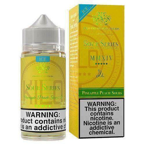 Pineapple Peach Sours ICE by Kilo Sour Series E-liquids 100ml - VapeNation.pk Vape Pakistan