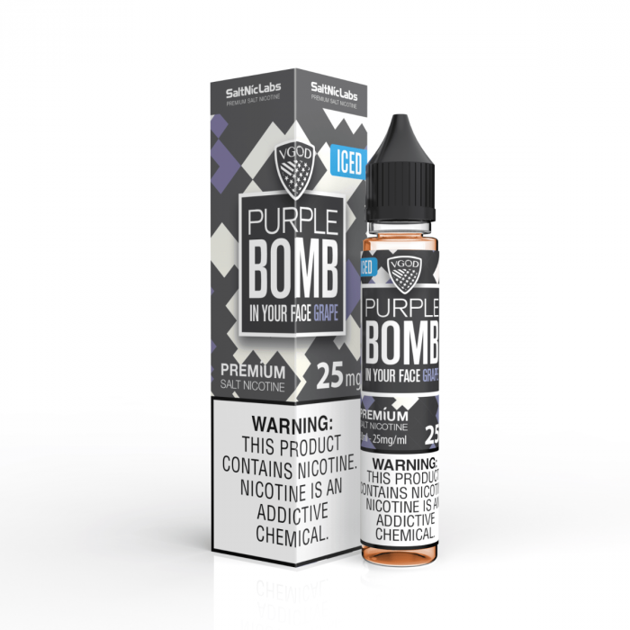 VGOD SALTNIC EJUICE -  Purple Bomb ICE - 30ML - VapeNationpk