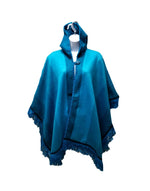 Load image into Gallery viewer, button up wool poncho, hooded alpaca fashion