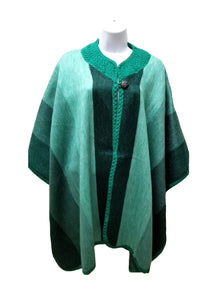 button up wool poncho, open front alpaca fashion