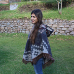 Load image into Gallery viewer, unisex alpaca poncho, hooded alpaca products, alpaca clothing, luxury alpaca poncho