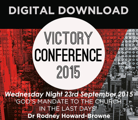 2015 Victory Conference - Wednesday Night Audio Download