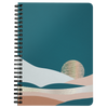 Boho Abstract Landscape Spiral Notebook
