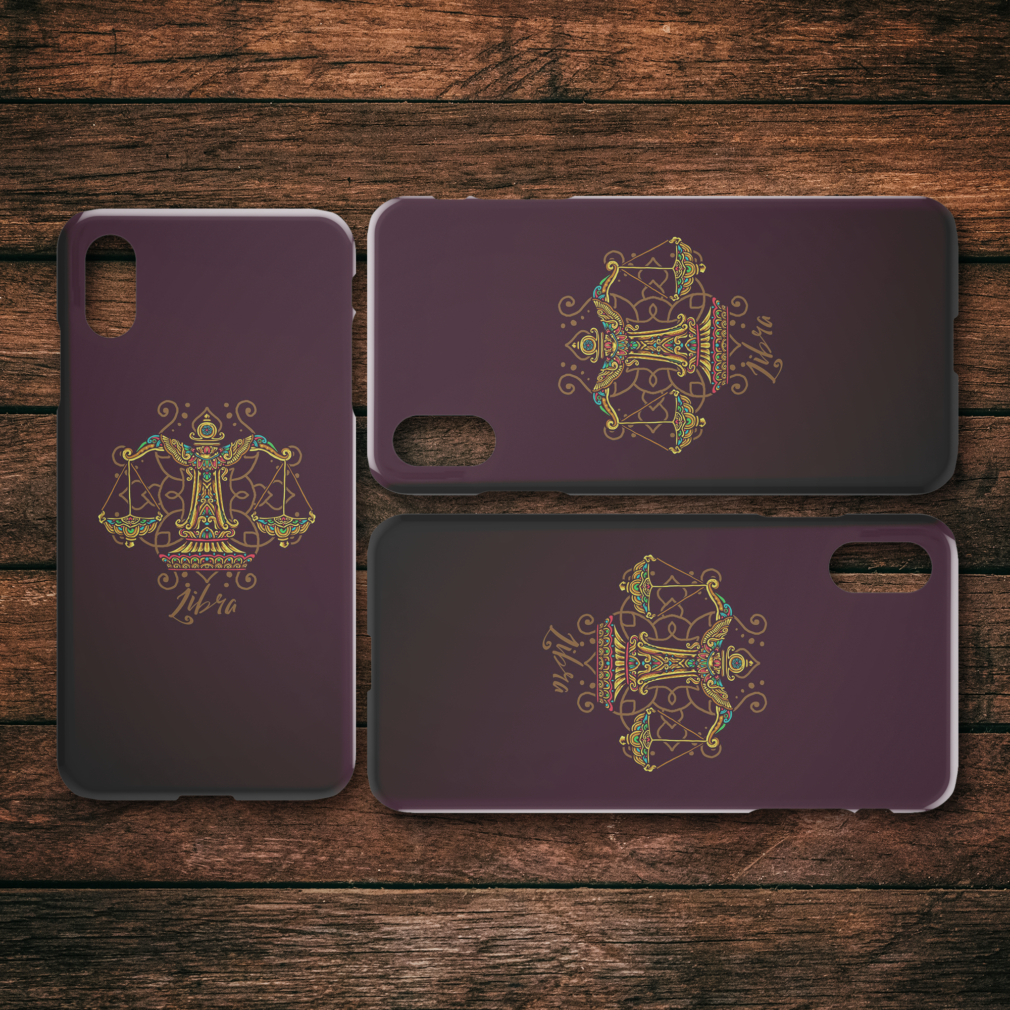 Libra Horoscope Mandala iPhone Case