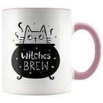 Witches Brew Funny Halloween Cat Mug (11oz)