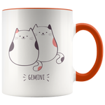 Gemini Cat Coffee Mug, 11oz
