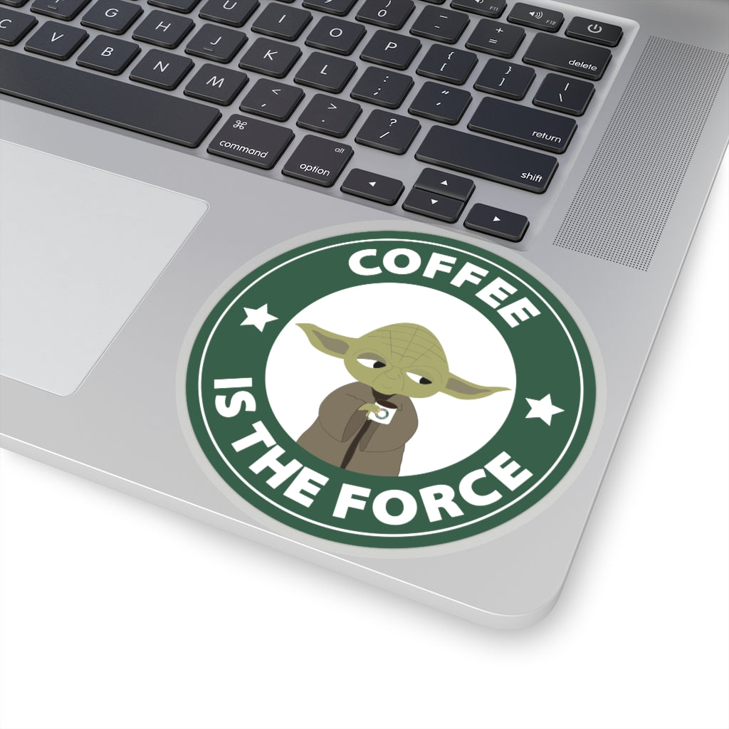 Coffee Is The Force Starbucks Yoda Sticker (4 sizes)