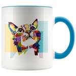 Hope Pop Art Colorful Cute Cat Mug