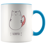 Scorpio Cat Coffee Mug, 11oz