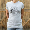 Caterpillar And Alice T-Shirt (Ladies)