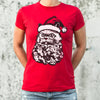 Cat Santa T-Shirt (Ladies)