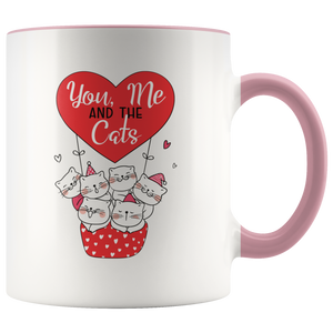 You, Me And The Cats Funny Coffee Mug, 11oz