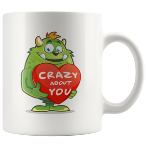 Love Monster Crazy About You Funny Valentines Mug, 11oz