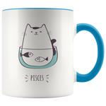 Pisces Cat Coffee Mug, 11oz