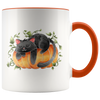 Black Cat Sleeping On a Pumpkin Mug