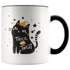 Trick Or Treat Halloween Black Cat Mug (11oz)