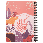 Abstract Boho Pastel Pink Botanical Spiralbound Notebook