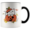 Creepy Cute Cat In Pumpkin Halloween Mug