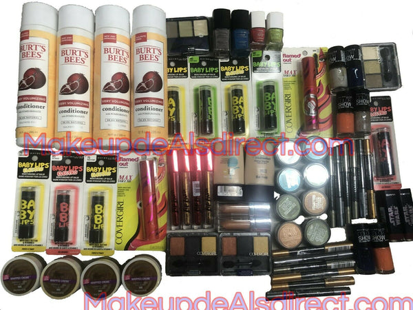 Wholesale Mixed Makeup Lot 60 Pack CoverGirl Burt's Bees Maybelline