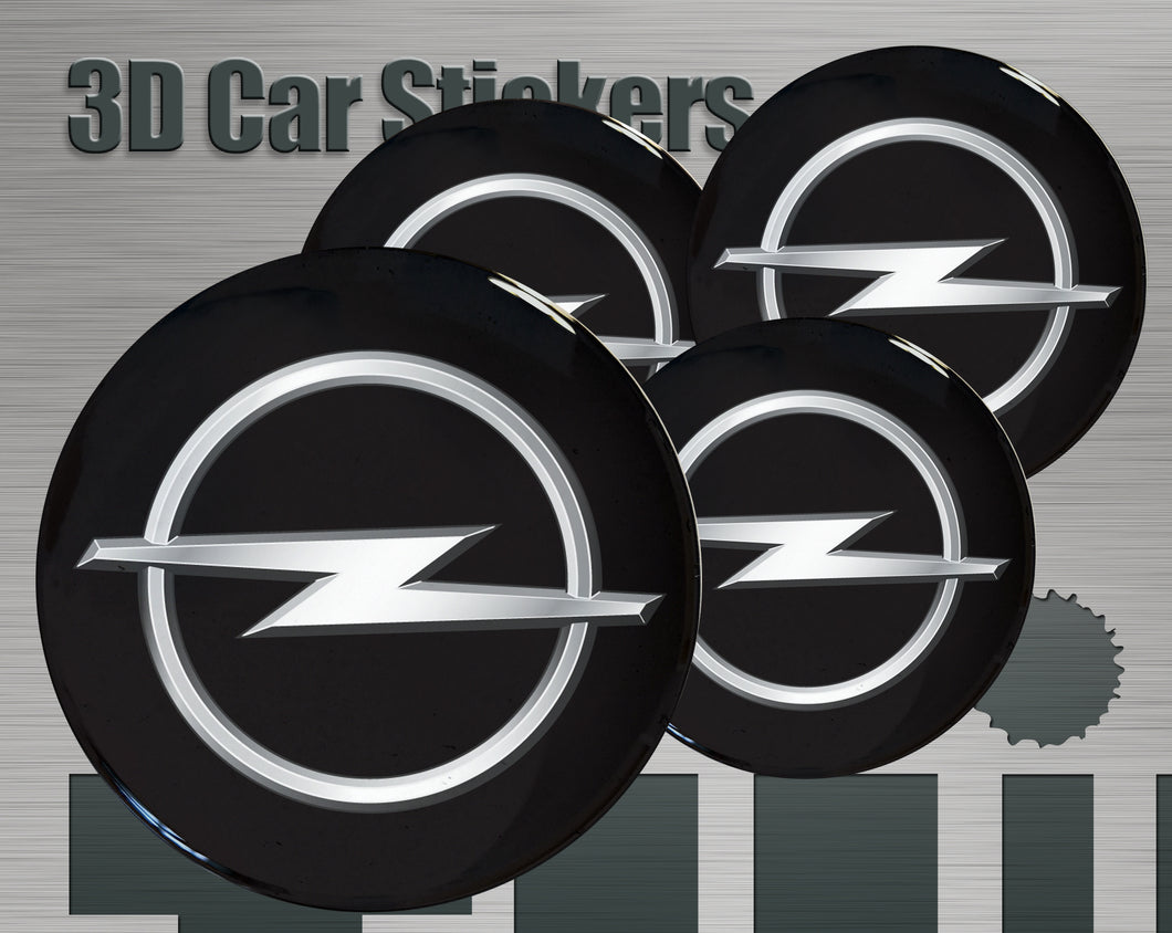 56 mm 3D Stickers New Logo Imitation Center Cap Wheel Trims