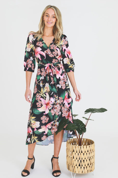 Hibiscus Wrap Dress