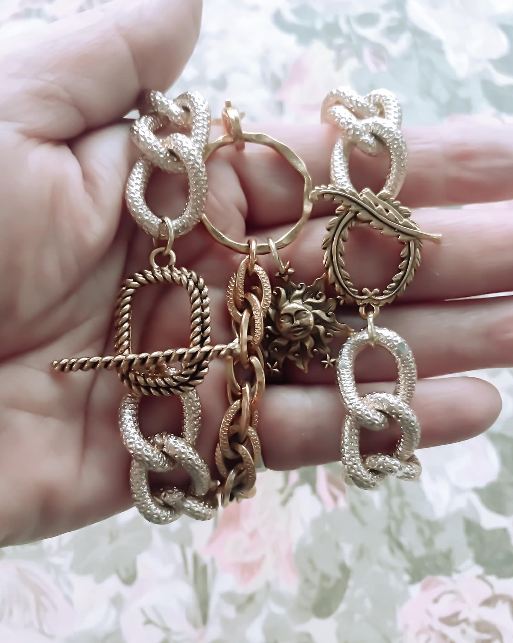 Vintage Revisited handmade jewelry gold chain bracelet