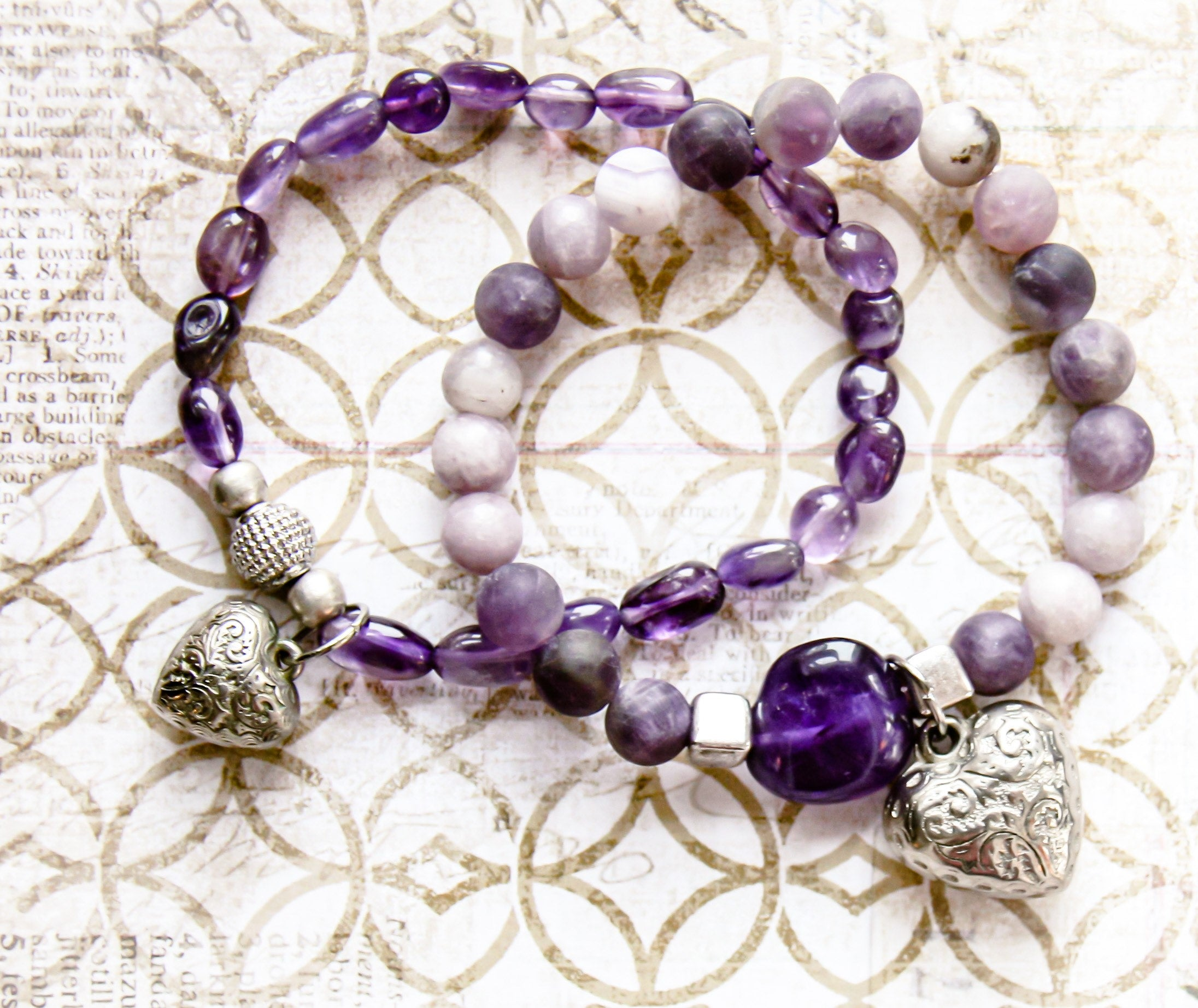 Amethyst hand-made jewelry