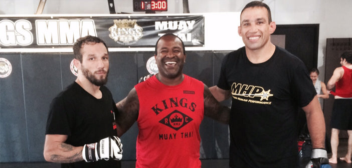 Luiz Tosta at Kings MMA with Cordeiro and Werdum