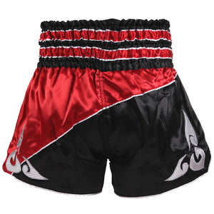 D.E Fit Special Muay Thai Shorts - Black Red