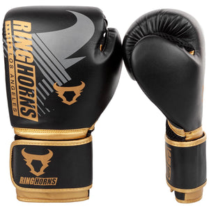 Venum Ringhorns Charger MX Boxing Gloves - Black/Gold