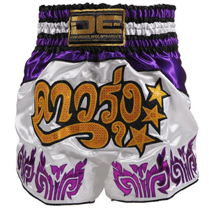 D.E Fit Special Muay Thai Shorts - Purple - Fightstore Pro